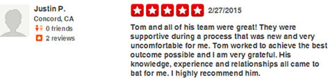 concord personal injury lawyer Yelp review