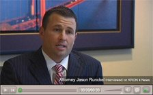 Personal Injury Attorney Jason Runckel on KRON 4 News