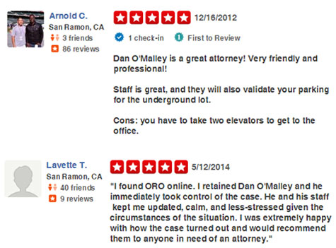 San Ramon Attorney Reviews